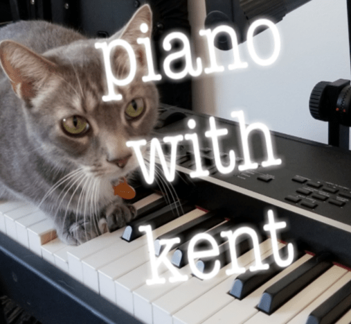 Linus the Jazz Cat on Piano - Piano With Kent