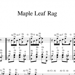 Partitura con letras Maple Leaf Rag