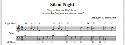 Easy Silent Night with Letters