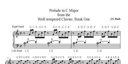 Piano Sheet Music with Added Letters